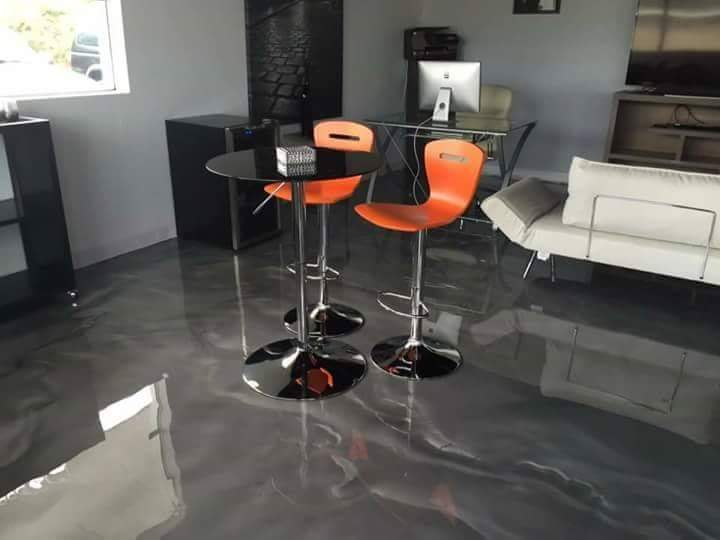 3d Metallic epoxy flooring sabdullah galleriadesign trendsetters 4walls italian spanish tiles house office hospital interiors