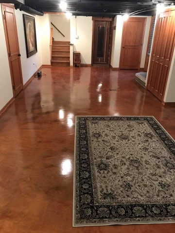 3D Metallic epoxy floor in Karachi Islamabad interior design bedroom office