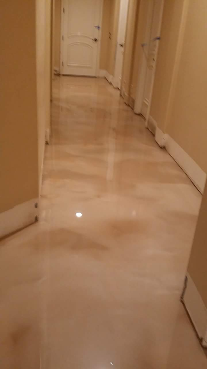 4 walls trendsetters 3d metallic epoxy flooring Galleria bedroom hotel schools house interiors