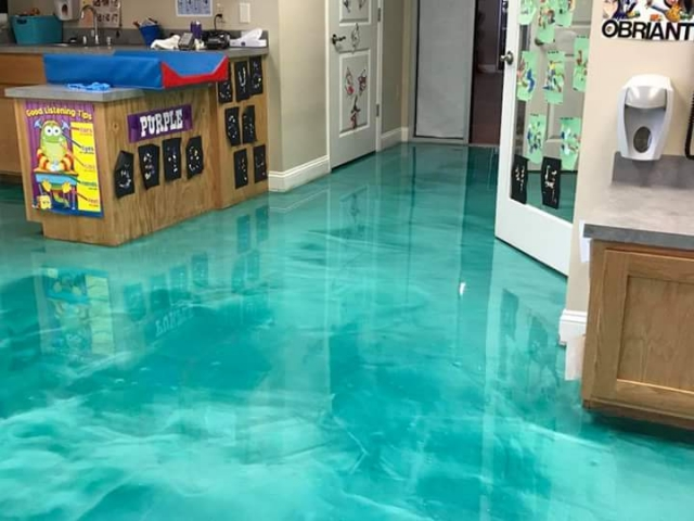 3d metallic epoxy flooring 4Walls trendsetters sAbdullah Galleriadesign home office hotel hospital karachi Lahore Islamabad interiors